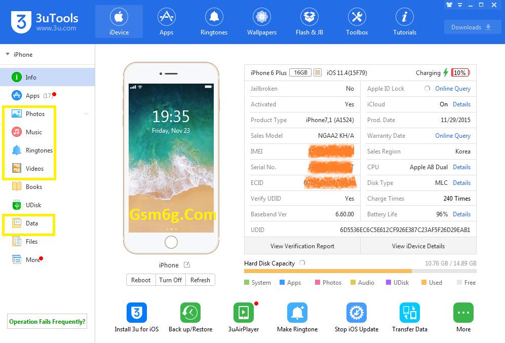 Tải 3utools phần mềm tải nhạc hình ảnh,sao lưu danh bạ iphone 2