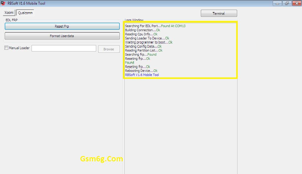 Tool Rbsoft v1.6 Mobile Tool Crack - Tool xóa pass & frp Qualcom 3