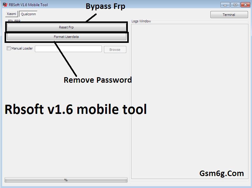 Tool Rbsoft v1.6 Mobile Tool Crack - Tool xóa pass & frp Qualcom