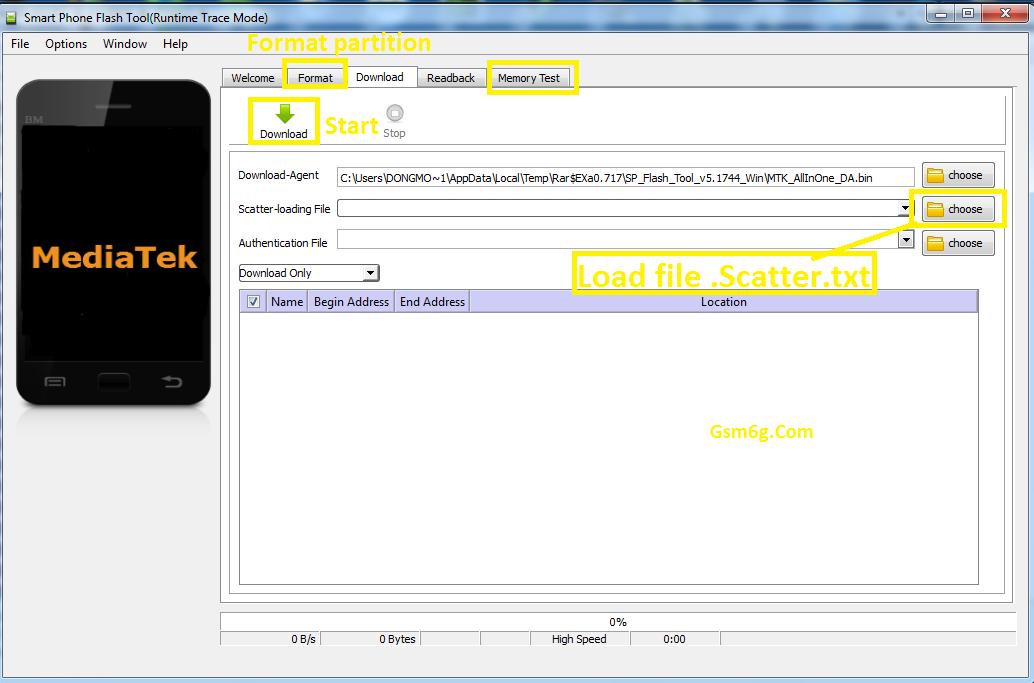 Download tool SpFlashtool