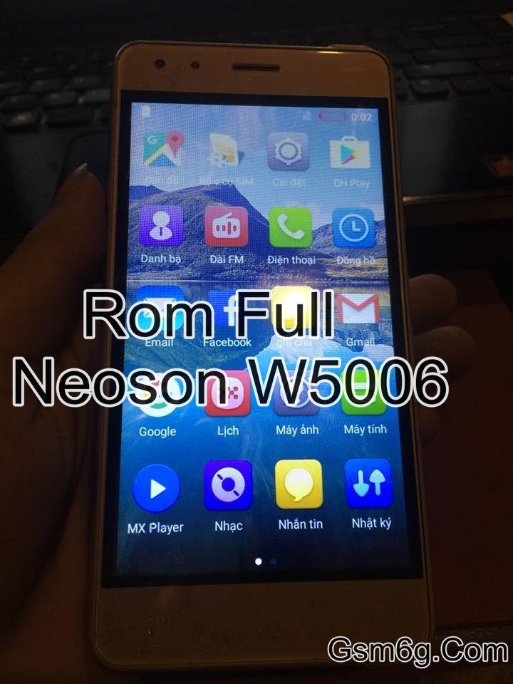 Rom Full Neoson W5006 Chip MTk6580